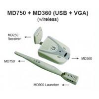 ワイヤレス口腔内カメラMD750+MD360+MD900+MD250 (USB&VGA )1/4 SONY CCD