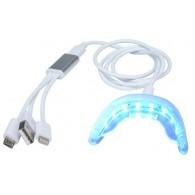 ポータブル歯ホワイトニングLED機器 16個LEDライト付き 3USBポート
