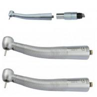 COXO®歯科用ライト付き高速タービンCX207-GN-SPカップリング付き1本+カップリング無し2本